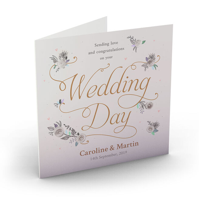 Personalised Wedding Card - Love On Your Wedding Day