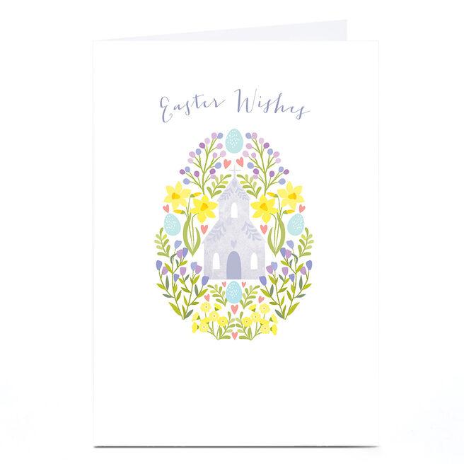 Personalised Klara Hawkins Easter Card - Church Egg