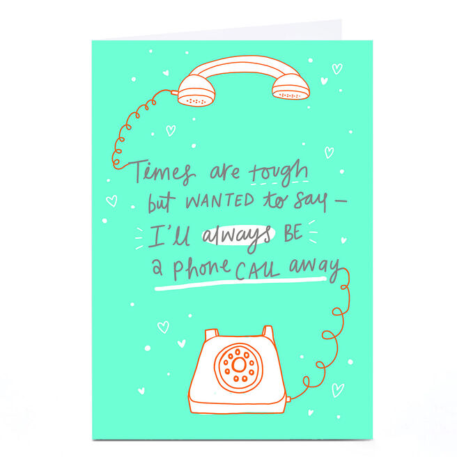 Personalised Card - Only A Phone Call Away