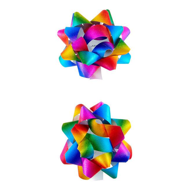 Multicoloured Glitter Gift Bows - Pack Of 2