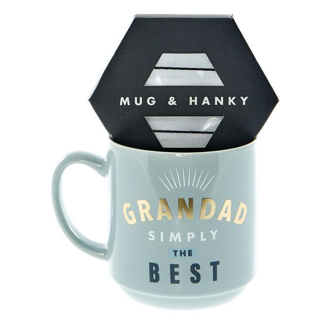 Grandad Simply The Best Mug & Hanky Set