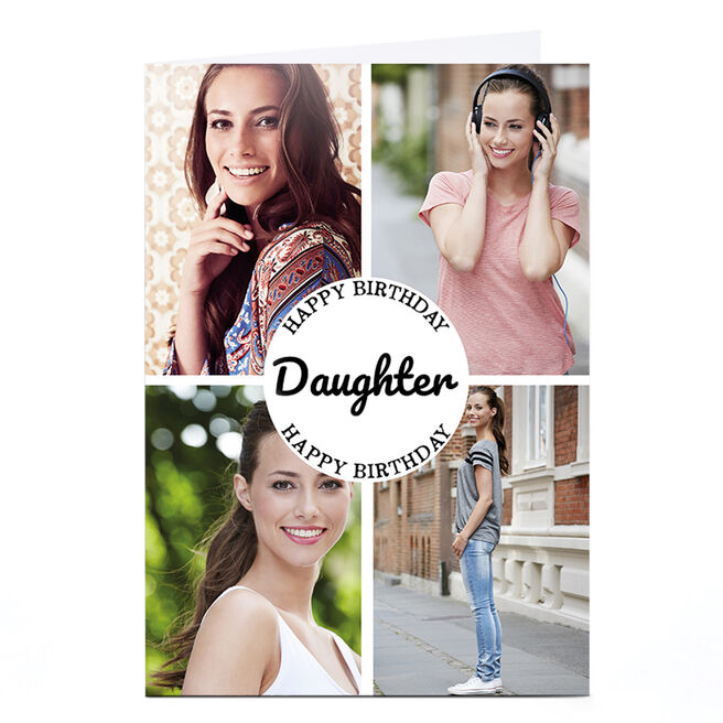 Photo Birthday Card - Daughter, 4 Photos