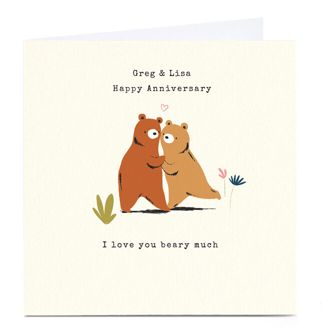 Personalised Andrew Thornton Anniversary Card - Beary Much
