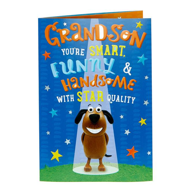 Birthday Card - Grandson Star Quality