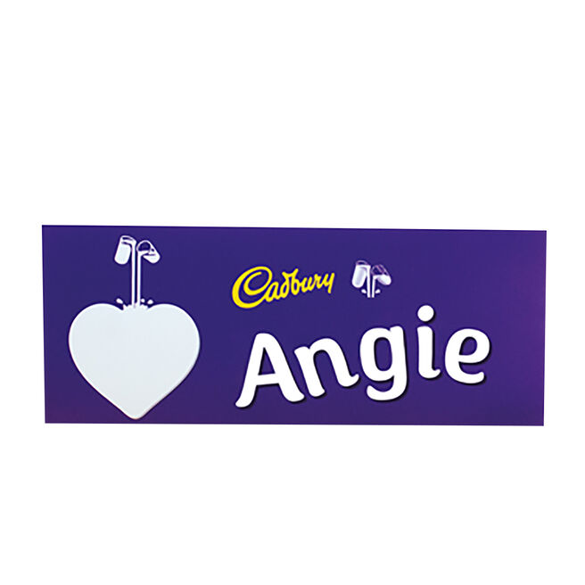 Personalised 850g Cadbury Dairy Milk Bar - Heart