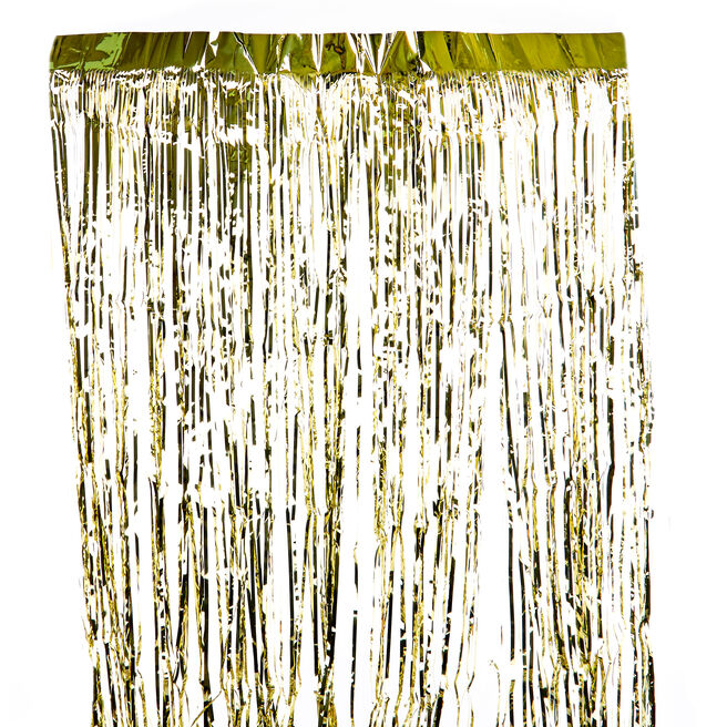 Gold Foil Fringe Door Curtain