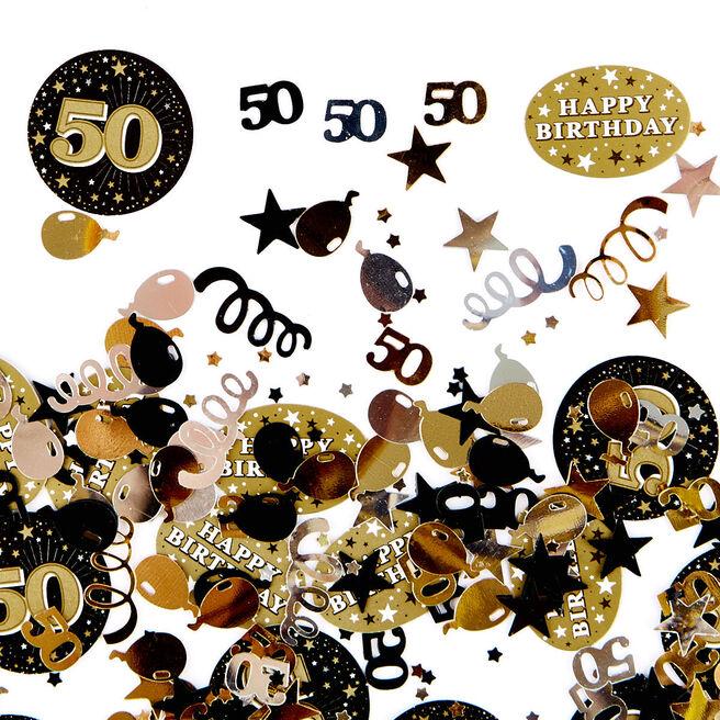 50th Birthday Gold Foiletti - Pack Of Three