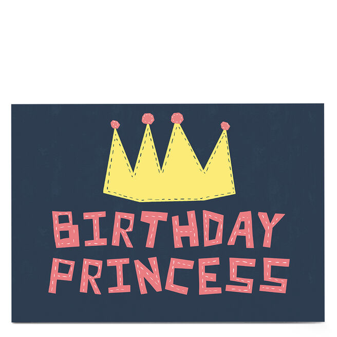 Personalised Phoebe Munger Birthday Card - Birthday Princess