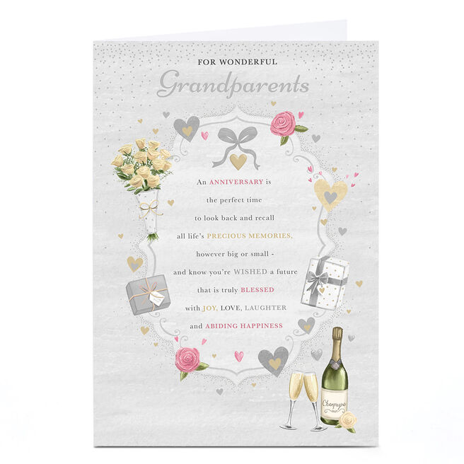 Personalised Anniversary Card - Joy, Love and Laughter