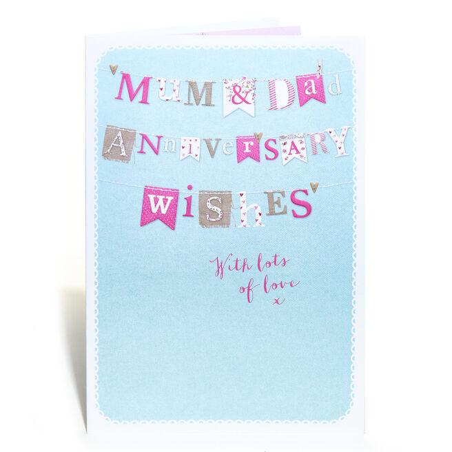 Anniversary Card - Mum & Dad