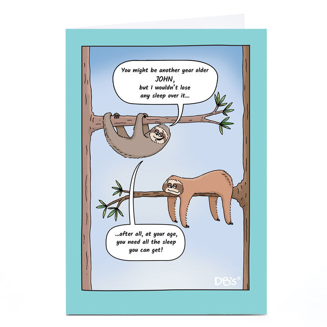 Personalised DB's Card - Another Year Older