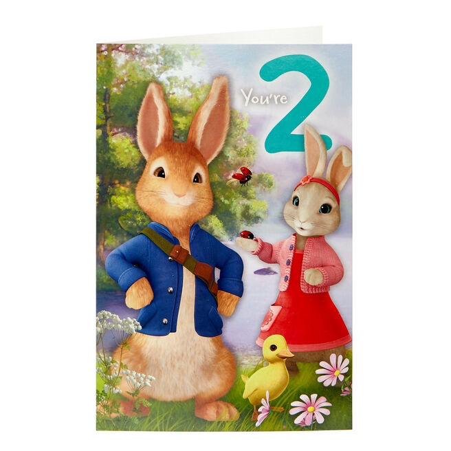 Peter Rabbit 2nd Birthday Card