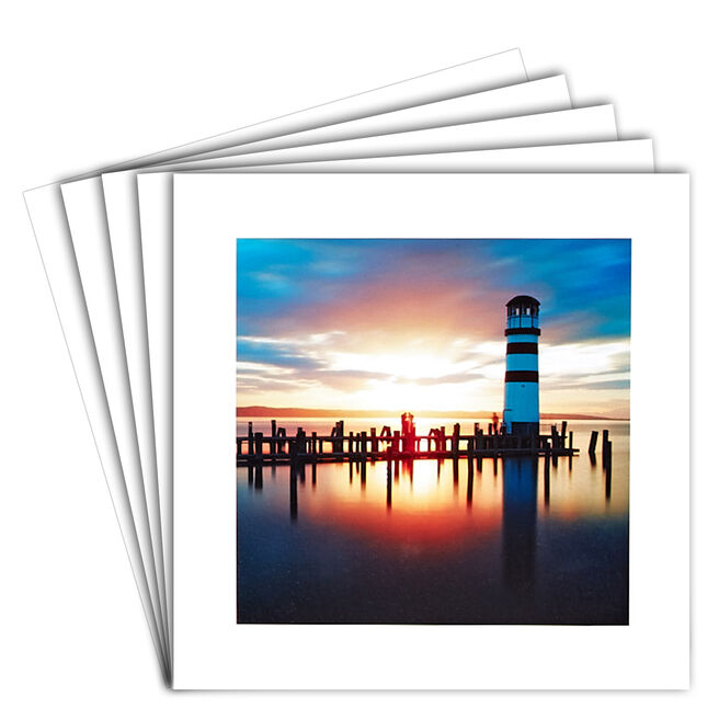 12 Blank Cards - Lighthouse at Sunset