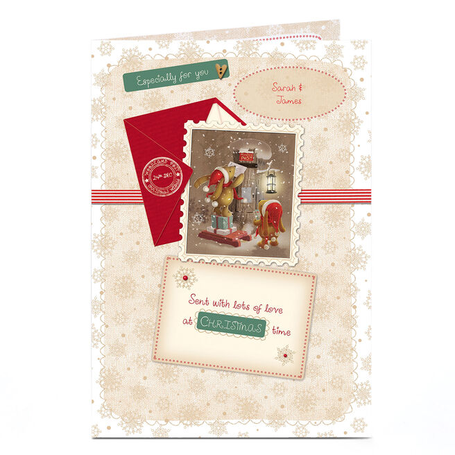 Personalised Christmas Card - Bears