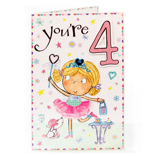 4th Birthday Card - Fairy