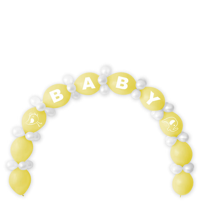 Lemon Baby Shower Balloon Chain & Figures Kit - 64 Balloons