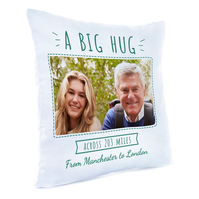 Photo Upload Cushion - A Big Hug