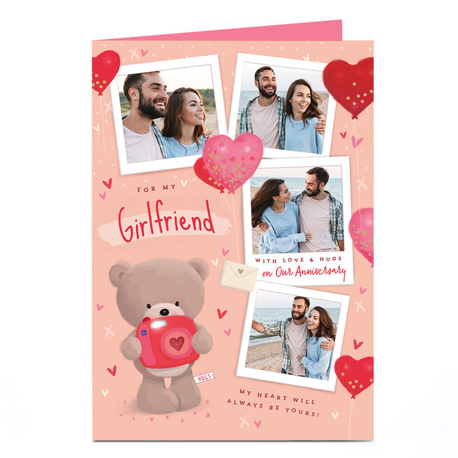 Photo Hugs Bear Anniversary Card - Always Be Yours