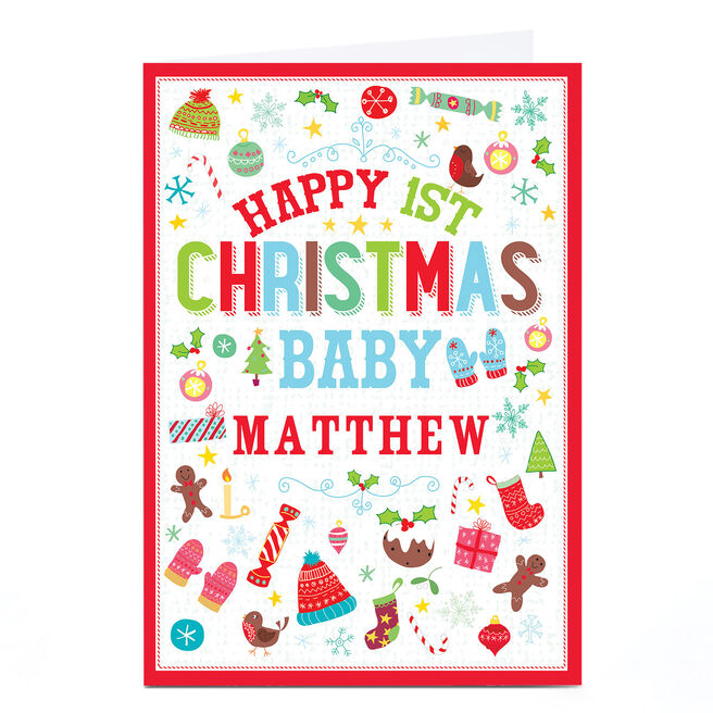 Personalised Christmas Card - 1st Christmas Baby
