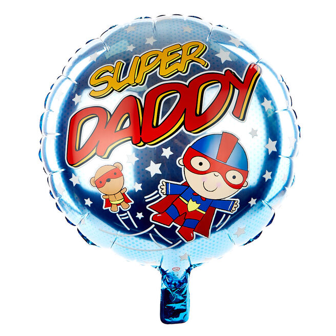 Super Daddy 18 Inch Foil Helium Balloon
