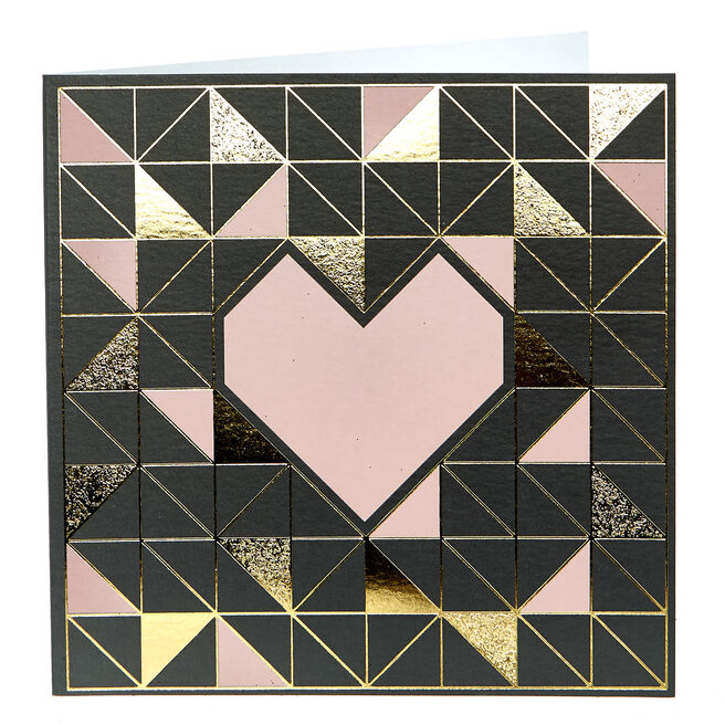 Any Occasion Card - Geometric Heart