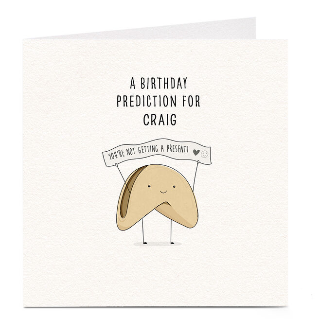Personalised Birthday Card - A Birthday Prediction