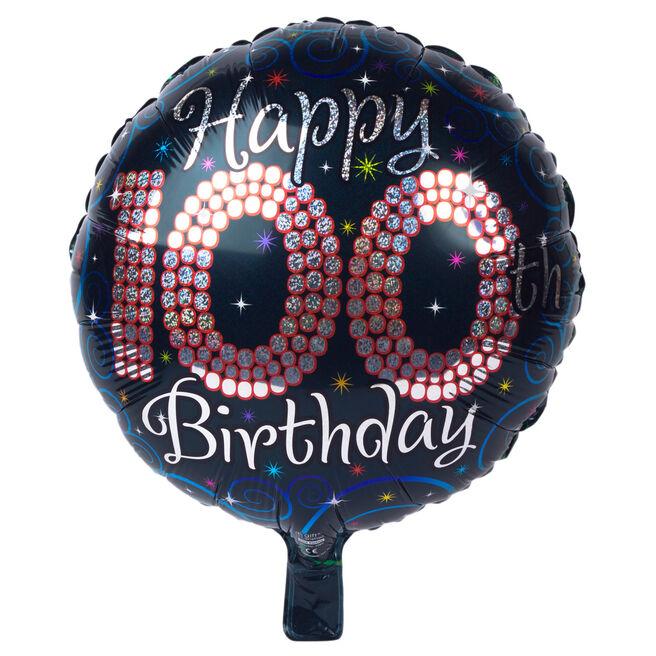 Black Age 100 Foil Helium Balloon
