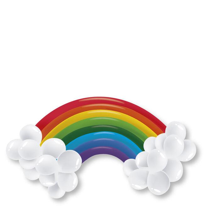 Rainbow Balloon Display Kit - 30 Balloons