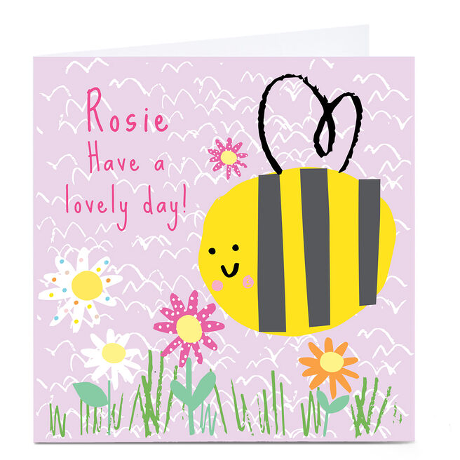 Personalised Squirrel Bandit Any Occasion Card - Lovely Day