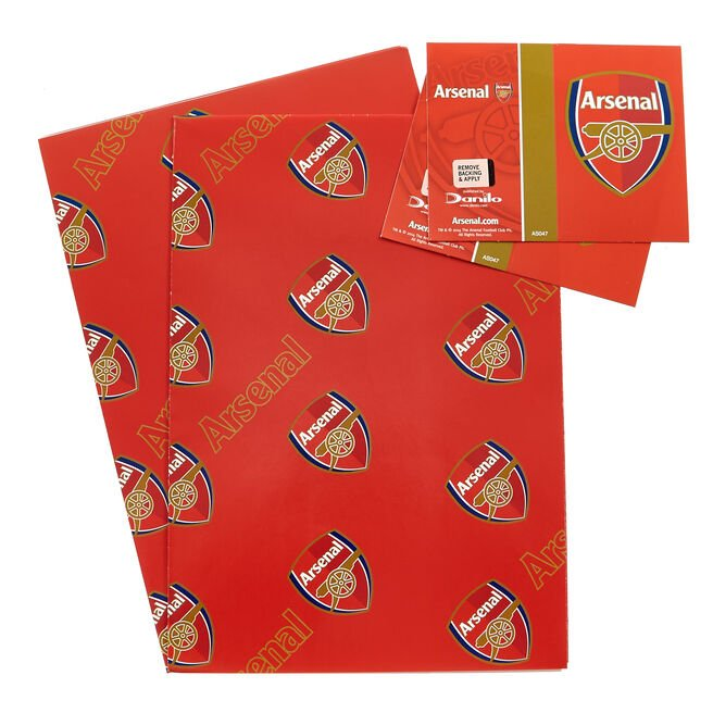 Arsenal Wrapping Paper & Gift Tags - Pack Of 2