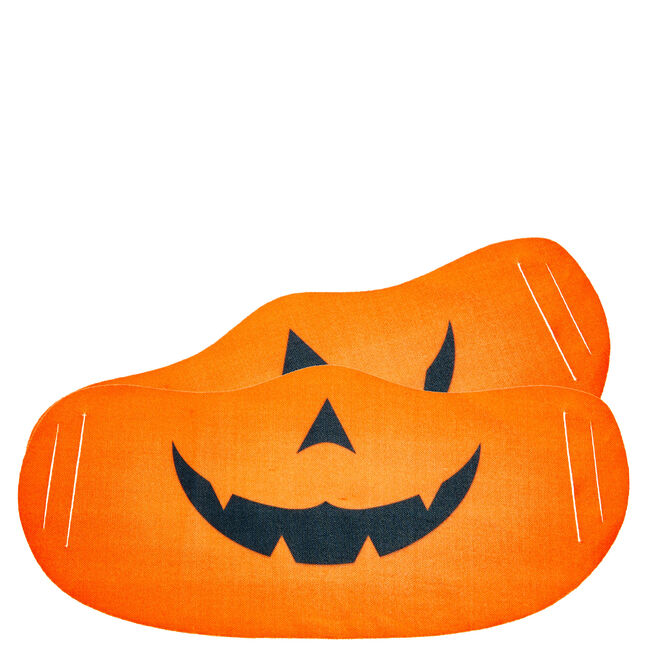 Washable Pumpkin Face Coverings - Pack Of 2