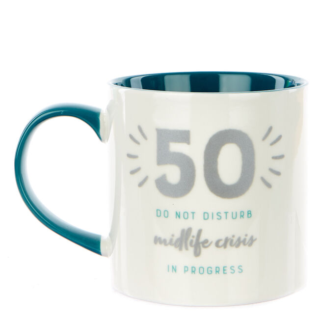 50th Birthday Mug - Midlife Crisis in Progress