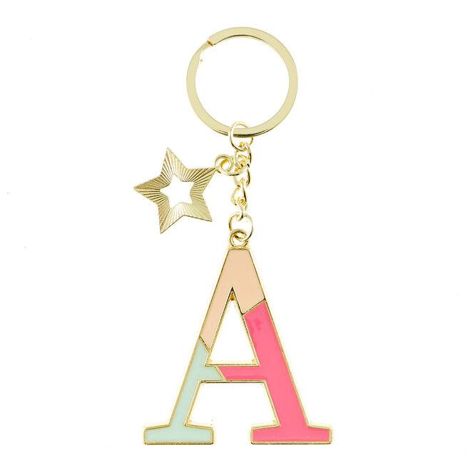 Letter A Alphabet Keyring