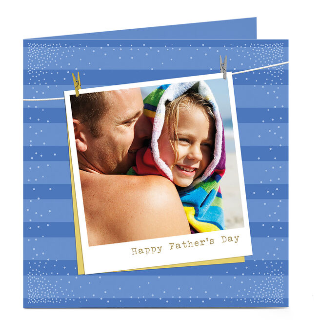 Photo Upload Father's Day Card - Polaroid Photo