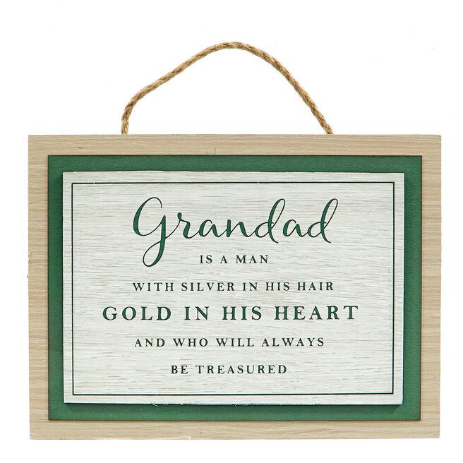Memory Lane Grandad Plaque