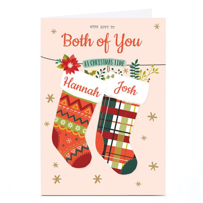 Personalised Christmas Card - Both Of You Christmas Stockings