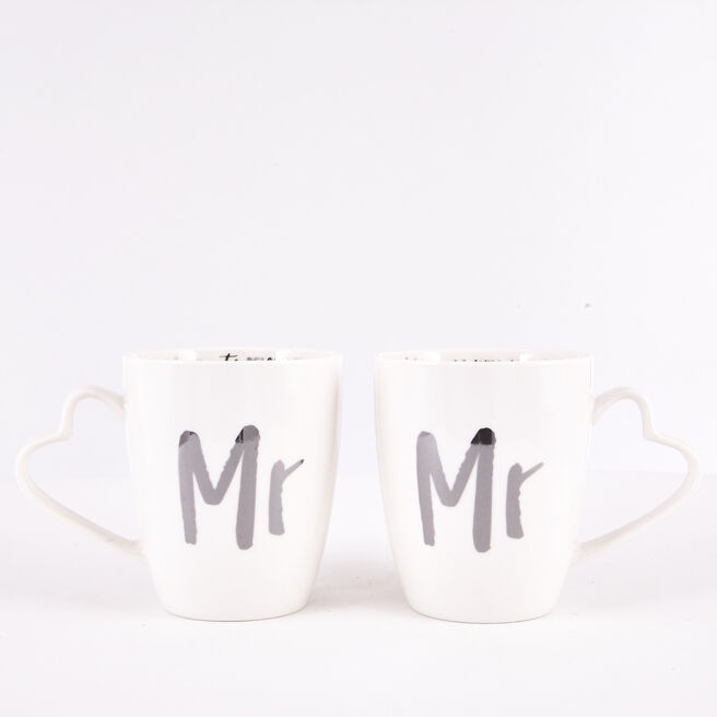 Mr & Mr Wedding Mug Set
