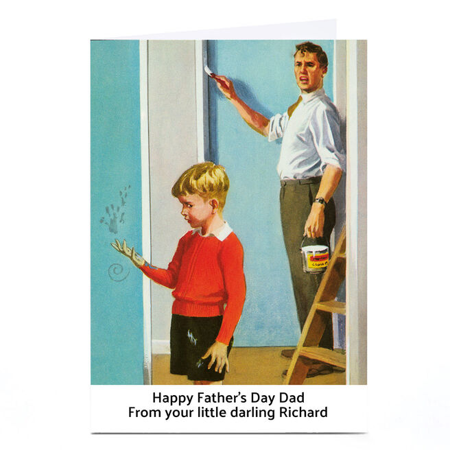 Personalised Ladybird Book Father's Day Card - Little Darling