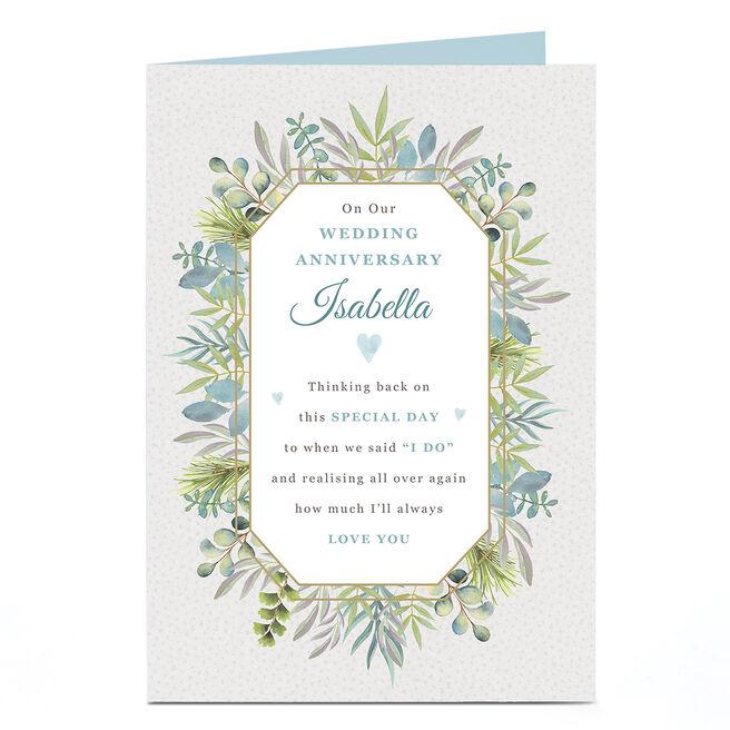 Personalised Anniversary Card - Botanic Verse