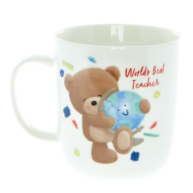 Hugs Bear World's Best Teacher Mug
