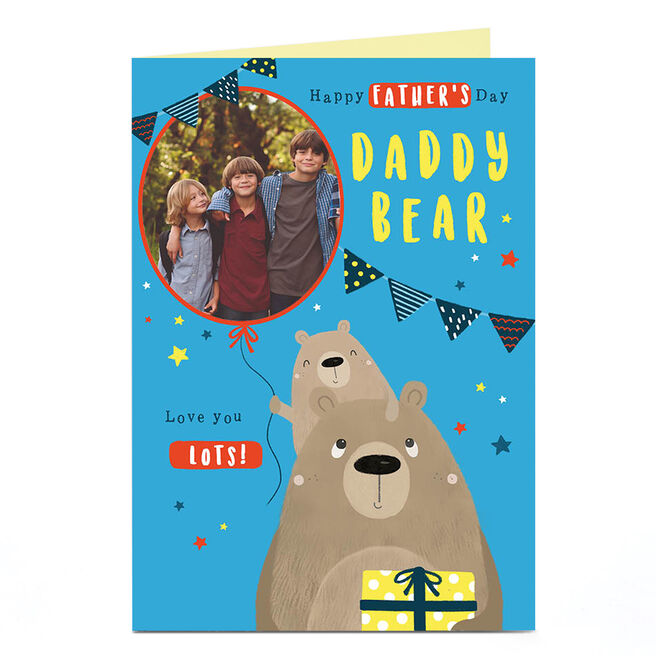 Photo Father's Day Card - Daddy Bear | Card Factory