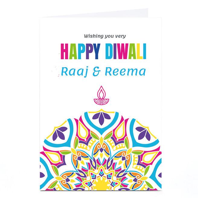 Personalised Roshah Designs Diwali Card - Colourful