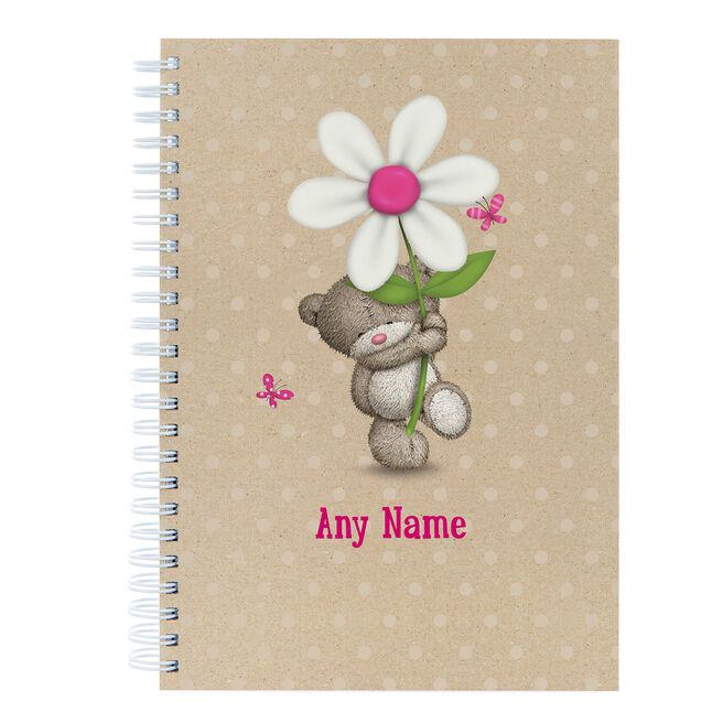 Personalised Hugs Flower Notebook