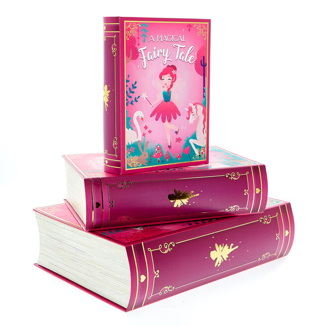Fairy Tale Book Gift Boxes - Set Of 3