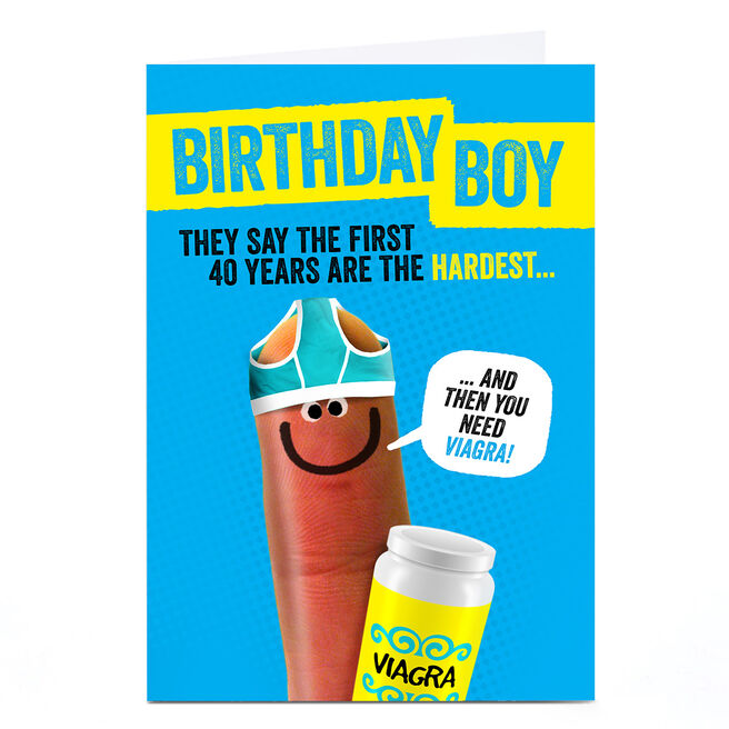 Personalised Finger Quips Birthday card - The First 40 Years...