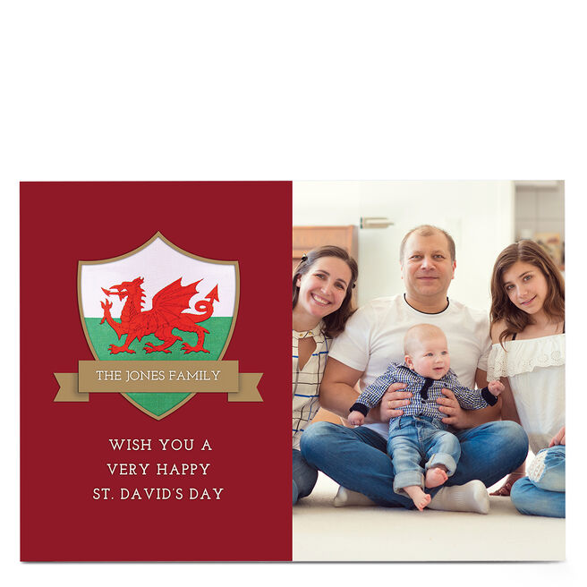 Photo St. David's Day Card - From The Family
