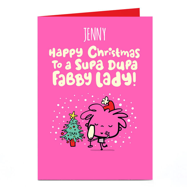Personalised Fruitloops Christmas Card - Fabby Lady
