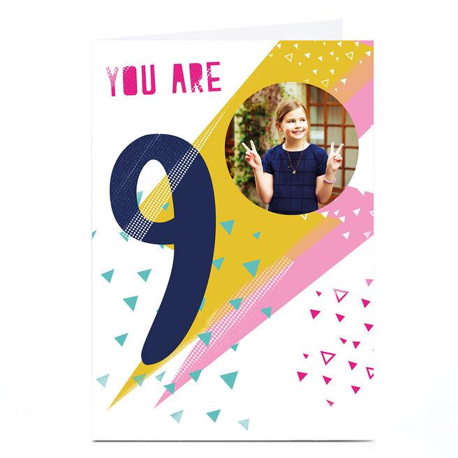 Photo Hello Munki Birthday Card - Age 9