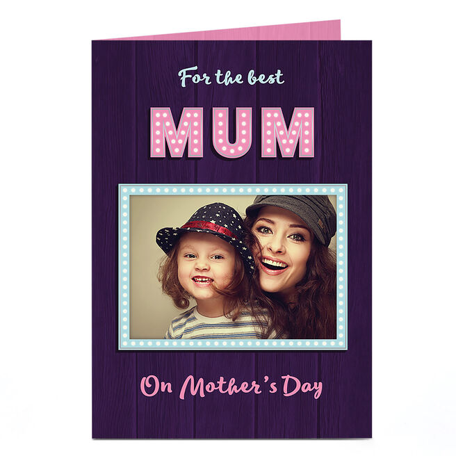 Photo Mother's Day Card - For The Best Mum