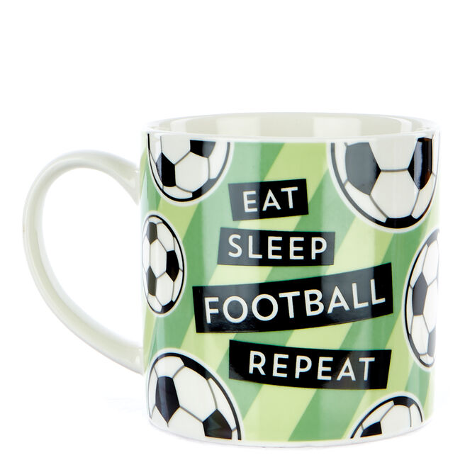 """Eat Sleep Football Repeat"""" Mug"""""""